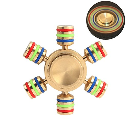 Metal Fidget Spinner, Rainbow Hand Spinner With Ultra Fast Bearings, Stress Reducer For Add, Adhd, A