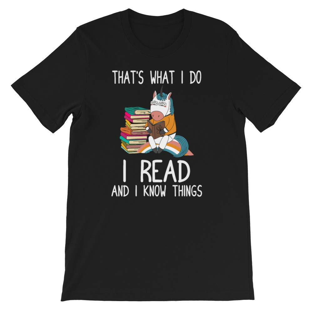 Funny Unicorn Shirt I Read and I Know Things Cute T-Shirt Shirt Unisex Sweatshirt