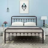 DUMEE Metal Bed Frame Queen Size Platform with