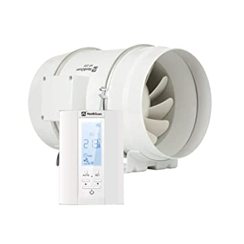 /ø100mm Hon/&Guan Rohrventilator Intelligenter Controller mit Drei Geschwindigkeitssteuerung Abluftventilator Badl/üfter mit Hygrostat und Timer