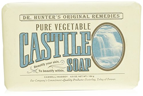 Caswell-Massey Dr. Hunter's Pure Vegetable Castile Soap - Natural Bath Soaps With Shea Butter - 6.5 Ounces