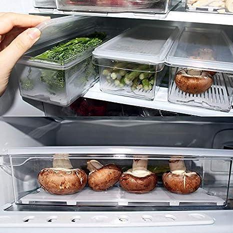 Kurtzy Pack 3 Organizadores de Refrigerador - Cajón Verduras ...