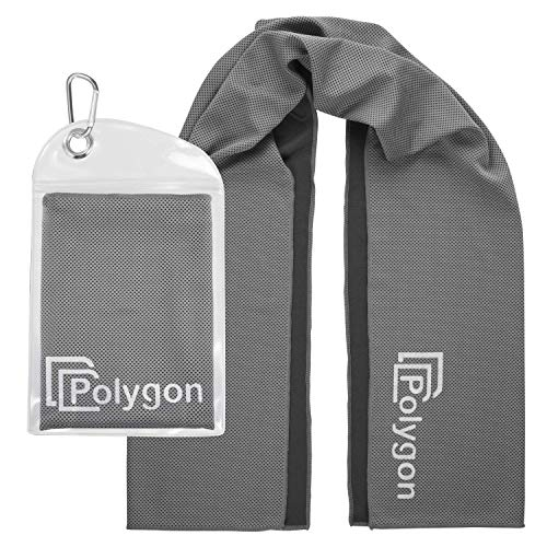 "Polygon Cooling Towel, Microfiber Ice Sports Towel, Instant Chilling Neck Wrap for Sports, Workout, Running, Hiking, Fitness, Gym, Yoga, Pilates, Travel, Camping & More, 40"" x 12"" from Polygon"