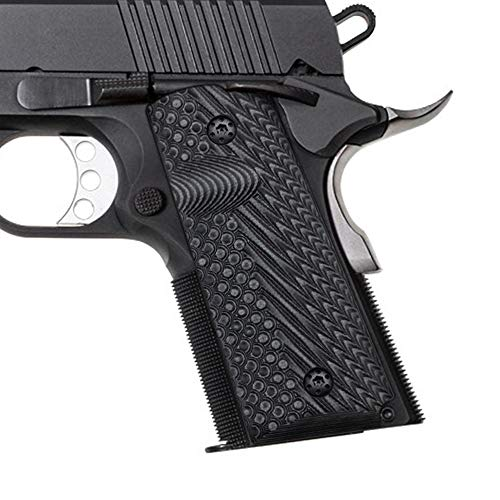 Cool Hand 1911 G10 Grips, Compact/Officer, Free Screws Included, OPS Texture (Gun Metal)