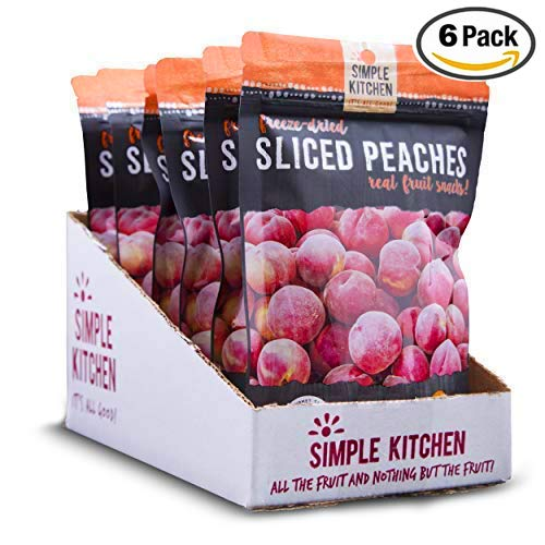 Simple Kitchen Freeze-Dried Peaches, 1.4oz (Pack of 6) by Kitchen Simple