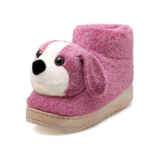 Fankou il delizioso Pacchetto invernale con home il cotone pantofole e spessi, antiscivolo coppie pantofole da camera casa calda scarpe ,39-40, Viola