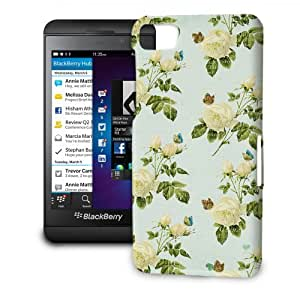 Phone Case For BlackBerry Z10 - Vintage Yellow Roses Protective Slim
