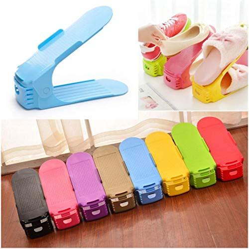 Creative Thicken Storage Shoe Rack Double Layer Shoes Shelf Cabinet Organizer Colorful Set - Shoe Racks Organizers