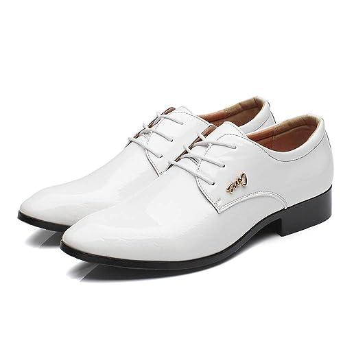 Hombre Bajos Bandas Brogue Cordones HombreOxford De Para PuVestir Zapatos Cuero Derby XkOZiPu