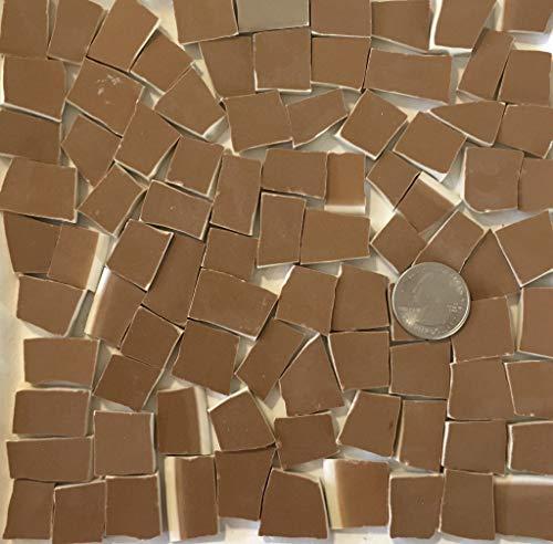Mosaic Art & Craft Supply ~ Milk Chocolate Brown Tiles (B245)