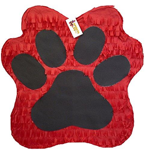 APINATA4U Red & Black Paw Print Pinata 19