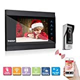 TMEZON WIFI/Wired 7'' TFT Color LCD Display Video Door Phone Visual Intercom Doorbell 1-camera 1-monitor Hands Free IR Night Vision