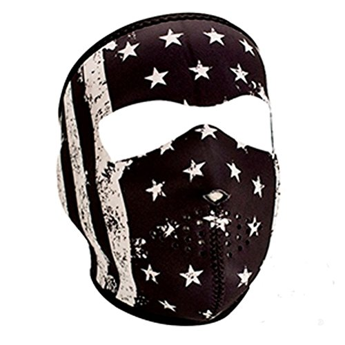 Black White Stars Stripes American Flag Neoprene Face Mask Biker Ski Paintball (Mask Paint Stripes)
