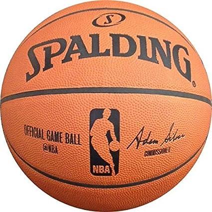 819b7105e6a Spalding NBA Official Game Indoor Leather Basketball (Adam Silver ...