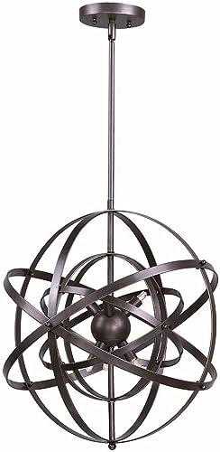Maxim Lighting 25133BR Sputnik – Nine Light Pendant, Bronze Rupert Finish