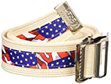 Posey 6549L Stars and Stripes Gait Belt with Nickel Buckle, 71'