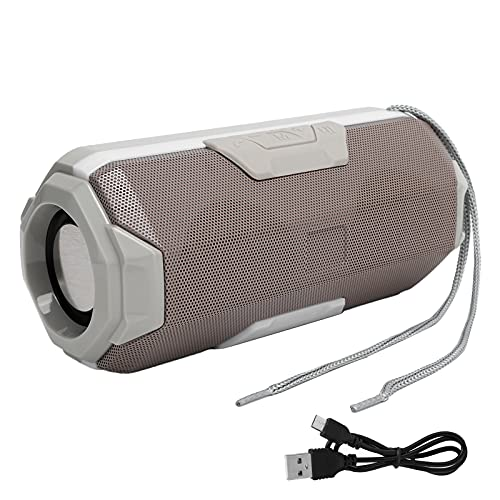 Luidsprekerbox, luidsprekerbox Ondersteuning geheugenkaart en U-schijf voor buitenfeest, kamperen voor thuisfeest(grey)