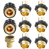 PLG Garden Hose Quick Connector with Flow Stopper-Internal Shut Off Valve