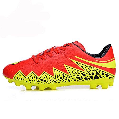 Xing Lin Botas De Fútbol Los Hombres Zapatos De Fútbol Del Clavo De Goma Zapatillas De Entrenamiento De Fútbol De Césped Artificial Red/Green