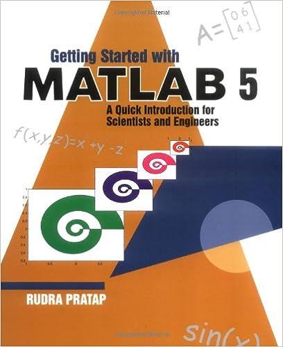 matlab programming by rudra pratap