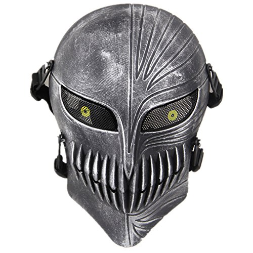 FAMI Death Skull Face Protective Mask Gear for Airsoft & Outdoor Cs War Game Live Field Mask - Scary Ghost Skull Mask for (Scary Halloween Stores)