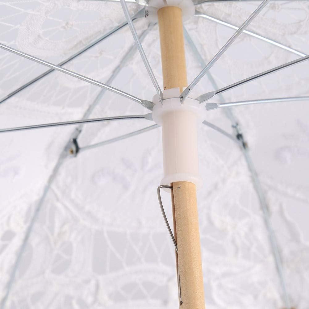 S-Ivoire Delaman Parapluie en Dentelle Lady Mariage Dentelle Parapluie Parasol parasols Soleil f/ête Nuptiale Photo prenant d/écoration 1 PC