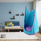 Flower205 Adult Children's Bag Swing Indoor Chair Nook Swing Seat Outdoor Amusement Park Sports Toy Chairlift Load Bearing 80KG