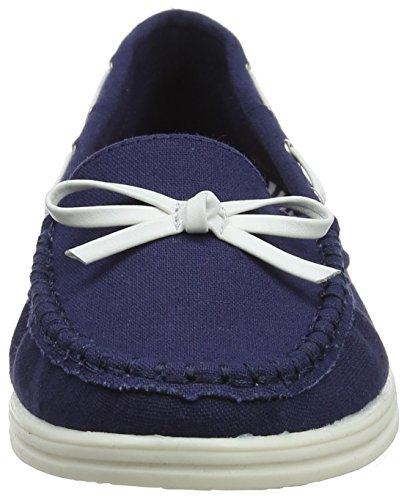 Cancas Bleu Dorothy navy Mocassins Perkins 100 Femme TqFUx