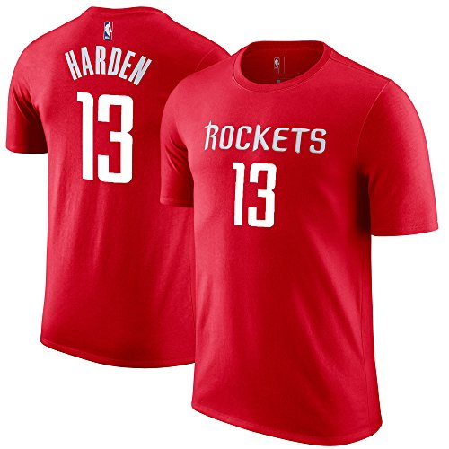 Outerstuff NBA Youth Performance Game Time Team Color Player Name Number Jersey T-Shirt (X-Large 18/20, James Harden) -
