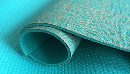 Amazon.com : Tapis de yoga en toile de jute vert : Sports ...