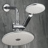 Rainfall Shower Head with Handheld Shower Head  Handheld Combo  Self-cleaning 9