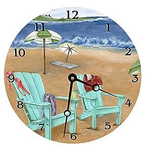 51vnFyrGm4L._SS300_ Coastal Wall Clocks & Beach Wall Clocks