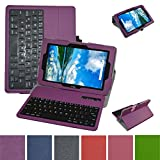 Verizon Ellipsis 10 Bluetooth Keyboard Case,Mama Mouth Coustom Design Slim Stand PU Leather Case Cover with Romovable Bluetooth Keyboard for 10.1'' Verizon Ellipsis 10 Android Tablet,Purple