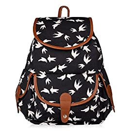 Vbiger Canvas Backpack for Women & Girls Casual Daypack Book Bag Day Backpacks 10 High quality canvas material.Great gift for women or girls. Retro and casual backpack. It's light and comfortable, adjust the strap's length for yourself.