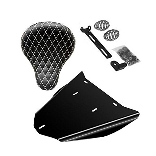 Honda Shadow VLX600 Bobber Seat Conversion Kit With 16'' White Diamond Seat by BobberCycle