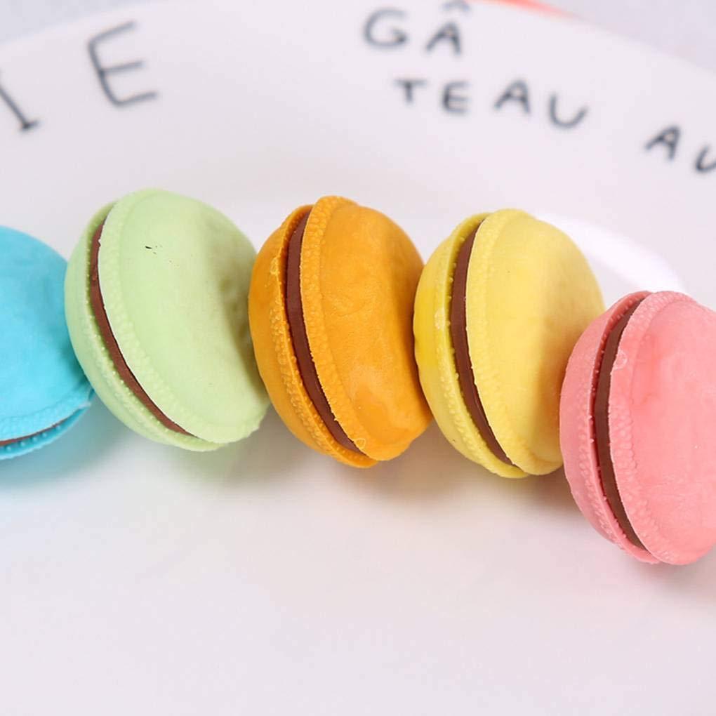 lot Bonbons Couleur Macaron Gomme /étudiant Fournitures Scolaires Artiste en Caoutchouc Souple Sketch Mat/ériel de Bureau Gomme Jinzuke 5pcs