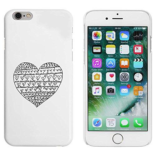 Weiß 'Sparen Sie das Datum Herz' Hülle für iPhone 6 u. 6s (MC00009866)