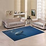 Love Nature Sweet Home Modern Collection Custom Shark Area Rug 7'x5' Indoor Soft Carpet