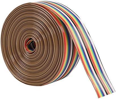 Broadroot Cable de 1,27 mm de Distancia 20 P, Plano, 4m: Amazon.es: Informática