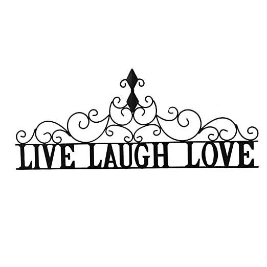 Amazon Com Collections Etc Scrolling Live Laugh Love Metal Wall Art