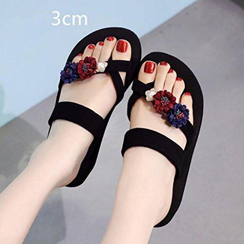 33 Flip Farbe Sandalen Wedges Fashion Hausschuhe Größe Wedges Strandschuhe Flops Slipper Flache Fashion A rutschige Damen Sandalen xaxvwOfn
