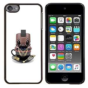 Eason Shop / Premium SLIM PC / Aliminium Casa Carcasa Funda Case Bandera Cover - Robot de dibujos animados Toy lindo - For Apple iPod Touch 6 6th Touch6