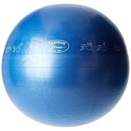 Carnegie Fitness exce rcise Siège Ball, ballon de gymnastique avec pompe, Ø65Ballon de gymnastique, bleu, 65cm, système anti Burst Max 300kg