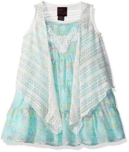 Little Lass Baby Girls 2 Pc Floral Dress Set Knit Vest
