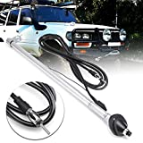 Relax4All - Manual Lock Down Radio Car Antenna For Toyota Landcruiser 80 HDJ80 HZJ80 FZJ80 Stainless Steel Replacement Parts Length 40cm