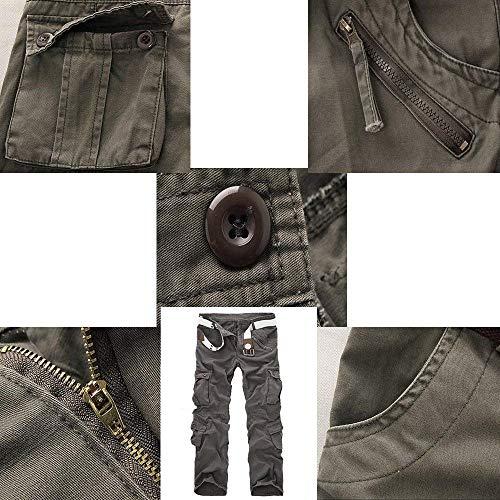Taglie Tasche Multi Grau Abiti Sportivi Larghi Esterno Da Pantaloni Mimetici Uomo Hx Fashion Comode tCIq88