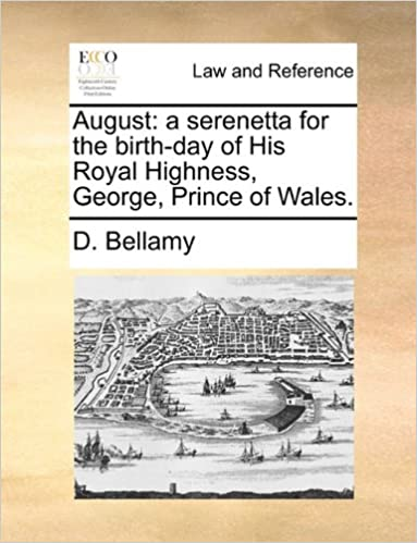 Gratis ebook nedlasting for ipad mini August: a serenetta for the birth-day of His Royal Highness, George, Prince of Wales. in Norwegian CHM 1170053351