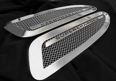 Supercharged Hood Mesh Grille Louver Set for Jaguar XK XKR 2007-2015 Models