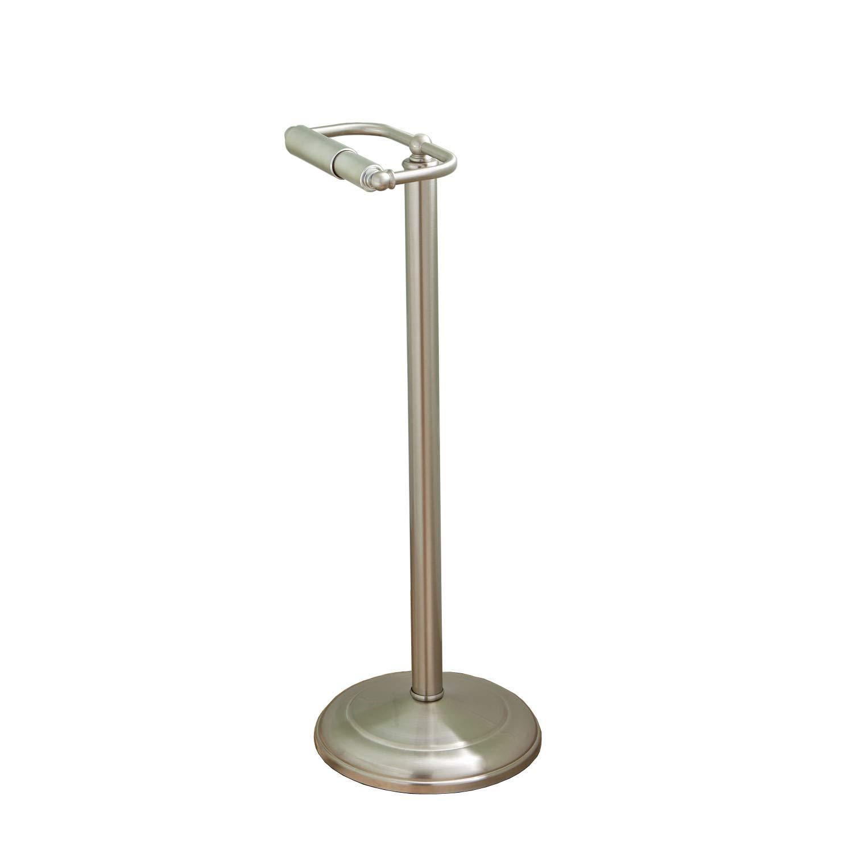 SH Naiture Steel Free Standing Round Pedestal Toilet Paper Dispenser Hand Tissue Holder, Floor Stand Storag, Oil Rubbed Bronze Finish