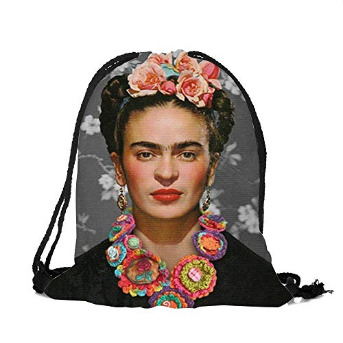 ROZKITCH Frida Kahlo Drawstring Bag Tote Gym Sack Cosmetic Bag Backpack Lightweight Bundle Pocket for Women Girls Christmas Party Travel]()